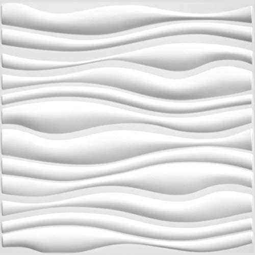 Wall Dimension Einfach abziehen und aufkleben, langlebigem Kunststoff 3D Wandpaneel-Lückenlosen Übergang Serene Design. 12Paneelen. 32SF