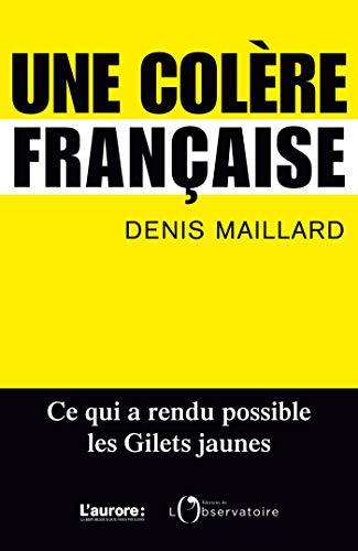 Une colère française (EDITIONS DE L'O) par  Editions de l'Observatoire