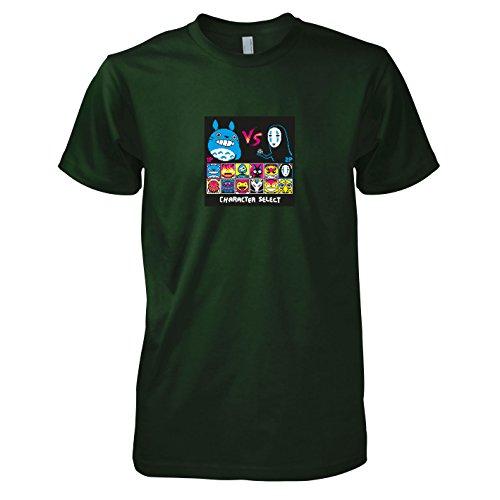 TEXLAB - Ghibli Fighters - Herren T-Shirt Flaschengrün
