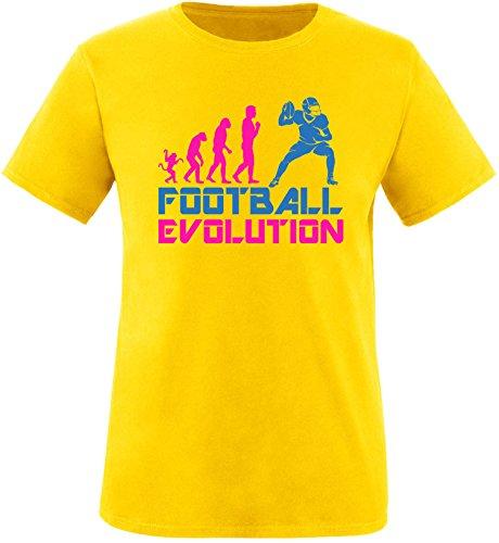 EZYshirt® Football Evolution Herren Rundhals T-Shirt Gelb/Pink/Blau
