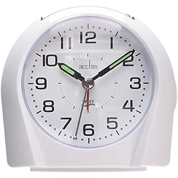 Acctim 14112 Europa Alarm Clock, White