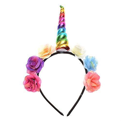 Maker Kostüm Bun - MAXGOODS Magische Einhorn Horn Kopf Party Kid Haar Stirnband Kostüm Cosplay Dekor