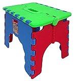 PAMEX - Taburete Silla Infantil Antideslizante con Sistema Plegable Asa de Transporte (Verde)