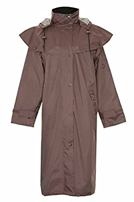 Country Estate Ladies Sandringham Full Length Waterproof Fabric Lightweight Lined Riding Cape Coat Jacket Trench Coats Macs Lined Detachable Hood Taped Seams Walking Outdoors Countrywear