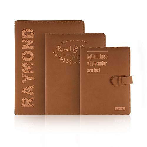 Diario de cuero personalizado Cuaderno, Diario de cuero personalizado Grabado, escritor de viajes, regalo perfecto para mujeres, hombres, profesores, estudiantes, grabado con láser B5