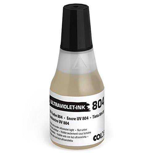 COLOP UV Stempelkissenfarbe 804 Ultraviolett 25ml - Nachfüll-Stempelfarbe Tinte - Uv-tinte