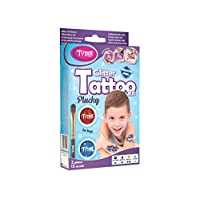 Glitter Tattoo Kit for Boys with 15 amazing stencils - HYPOALLERGENIC AND CRUELTY FREE - 8-18 lasting temporary tattoos