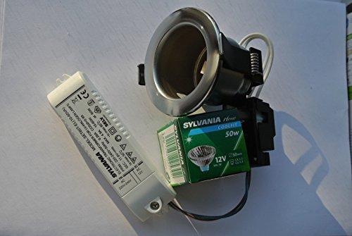 Lv Kit (Alto al7375Contractor 10Stück Fire spezifische Stahl gebürstet Einbauleuchte LV Kits)