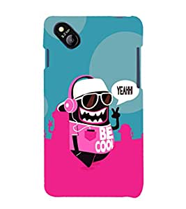 printtech Cool Cartoon Swag Back Case Cover for MicromaxBolt D303