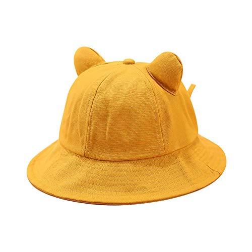 ENGXING Kawaii Nette Katze Ohren Einfarbig Frauen Fischer Hut Folding Outdoor Eimer Kappe -