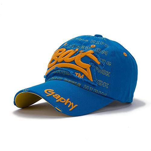 zhuzhuwen Hut weiblichen europäischen und amerikanischen Flut Brief Baseball Cap Herren Outdoor-Sport Sonnenschirm Kappe 3 einstellbar