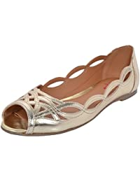 Red Tape Women's Leather Ballet Flats