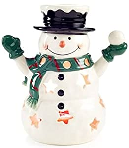 Official Yankee Candle Home Inspiration Snowman Luminary Tea Light Holder Only