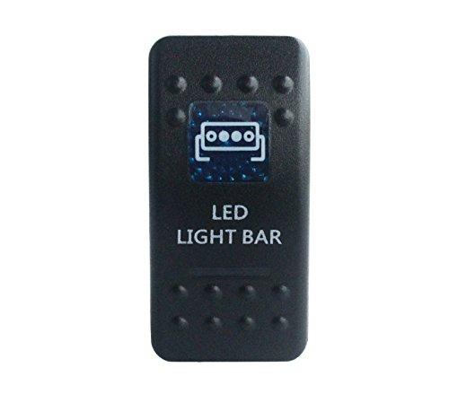 Grado marino BANDC coche barco luz LED Bar Rocker Interruptor LED azul...