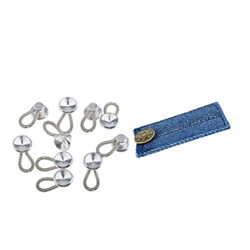 Sharplace 10 Stück Metall Hosenerweiterung Hosenknopfverlängerung Bunderweiterung mit Denim Hosen Hosenerweiterung