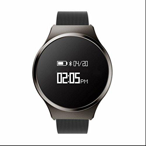 Fitness Armband Smartwatch mit Pulsmesser Armband mit Schrittzähler / Schlafüberwachung / Kalorienzähler, Smartwatch fitness uhr damen schrittzähler für ios und Android Damen Herren