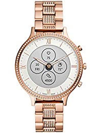 Fossil Charter Hybrid Hr Smartwatch Analog-Digital White Dial Women's Watch-FTW7012