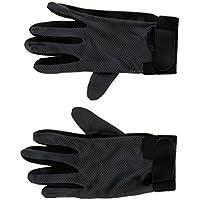 Sharplace 2pcs Guantes Cómodo Suave Estiramiento Pimple Palma Competencia Caballo Equitación Grip Guantes Gloves XL Negro