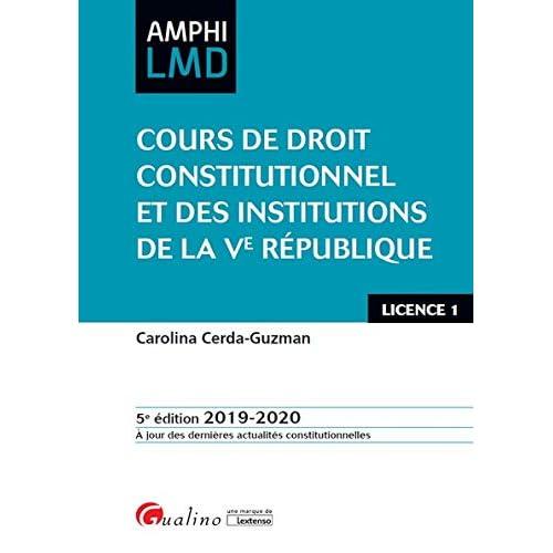 Cours de droit constitutionnel et des institutions de la Ve République