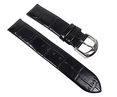 Festina Ersatzband Uhrenarmband Leder Band schwarz 18mm für F16201/6 F16201, F16021, F16118