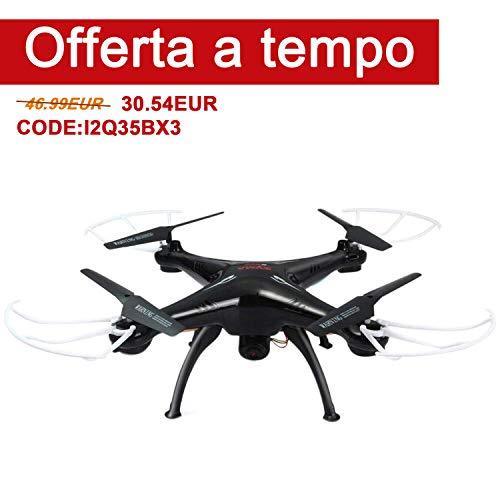 FPVRC SYMA X5SC(-1) Explorers Drone con Telecamera 720P HD 2.0MP Quadricottero RC Senza Testa Flip 3D una Chiave per Tornare 2.4G 4CH 6 Axis Gyro - RTF(Nero)