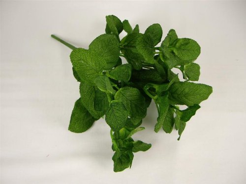 26 cm Plante artificielle Soie Sage feuillage Bush