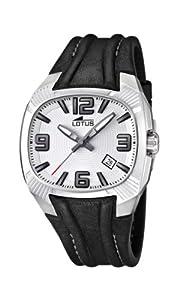 Reloj analógico Lotus 15759/1 de cuarzo para hombre con correa de piel, color negro