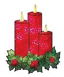 Impact Innovations Weihnachten Shimmer Beleuchtete Fenster Dekoration, Kerzen