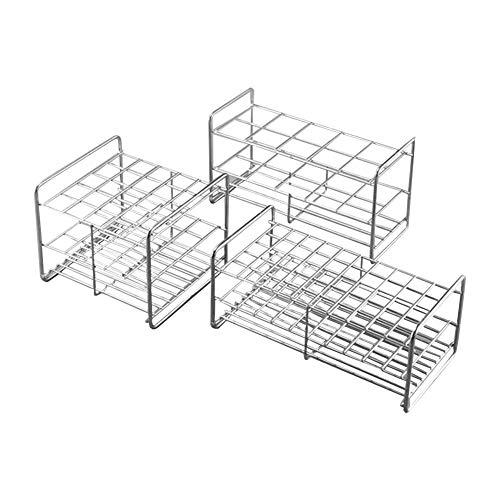 Tansoole - Reagenzglasgestell aus Edelstahl Reagenzglasständer Reagenzglashalter Labor-Gefäßständer 12-Loch, Gitteranordnung:6×2  35-12 , Φ34-36mm