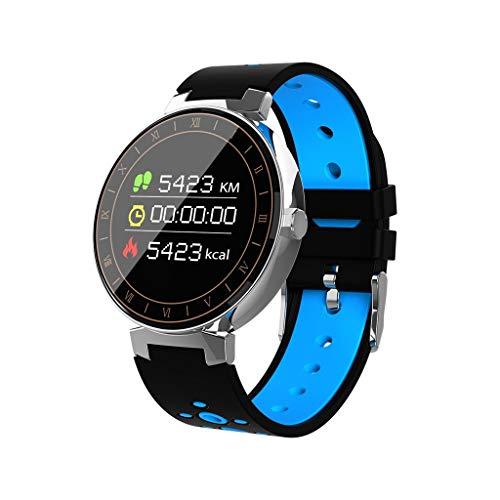 Fitness Armband mit Pulsmesser Blutdruck,Elospy Wasserdicht IP68 Sport Fitness Tracker Smartwatch Aktivitätstracker Pulsuhren Blutdruckmesser Vibrationsalarm Anruf für iOS Android Handy - Plus Training Schuh