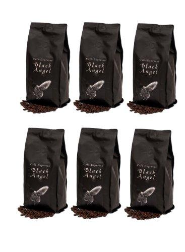 Espresso Kaffeebohnen / Cafe black Angel 6 x 1000 g Gastropackung für den Vollautomaten