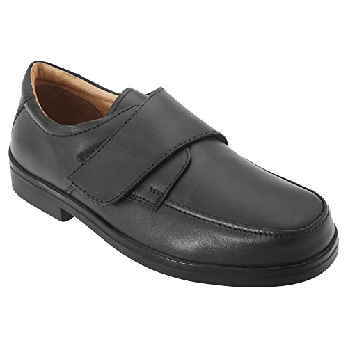 Roamers Mens Extra Wide Fitting Touch Fastening Casual Shoes (12 UK) (Black)