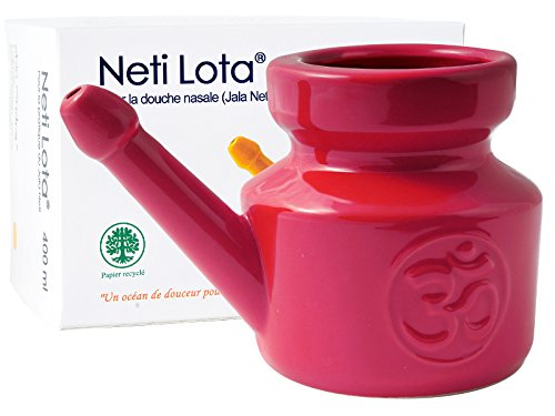 Lota Nasendusche Om aus emailliertem Porzellan 400ml–Red Chili Pepper