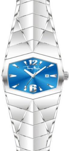 Thierry Mugler 4702001 - Reloj analógico de cuarzo unisex con correa de acero inoxidable, color plateado