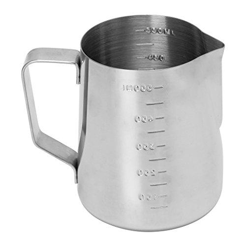 Shenxay Edelstahl Kaffee frothing Milch Latte Krug Fancy Schaum Tasse Krug 350/550ml -