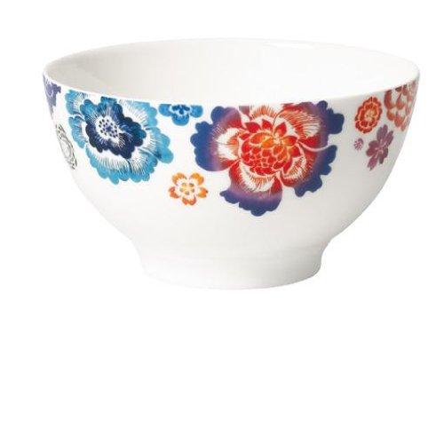 0,75L Bol 'Anmut Bloom' aus Premium Bone Porzellan in Multicolor