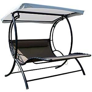 ass hollywoodliege doppel schaukelliege aus atmungsaktivem kunststoffgewebe mit. Black Bedroom Furniture Sets. Home Design Ideas