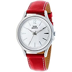 THINKPOSITIVE, Womens watch, Model SE W 129 A Small Milano,Imitation leather strap, Unisex, Color Red