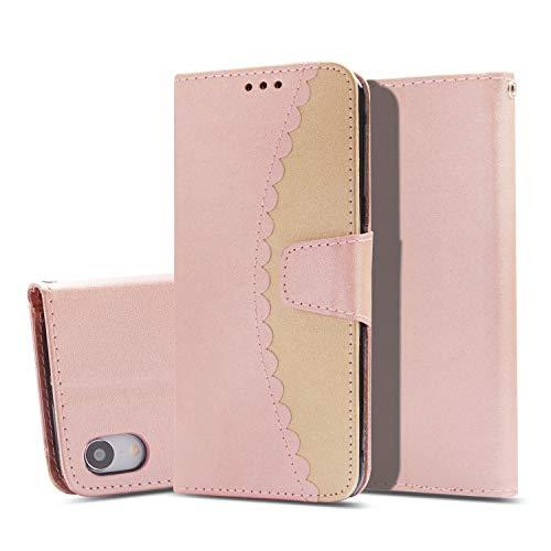 Flymaff Schutzhülle für iPhone XR + Glas-Displayschutzfolie, PU-Leder Brieftaschen-Schutzhülle mit Ständer und Klapphülle, kompatibel mit Apple iPhone XR (2018) 15,2 cm