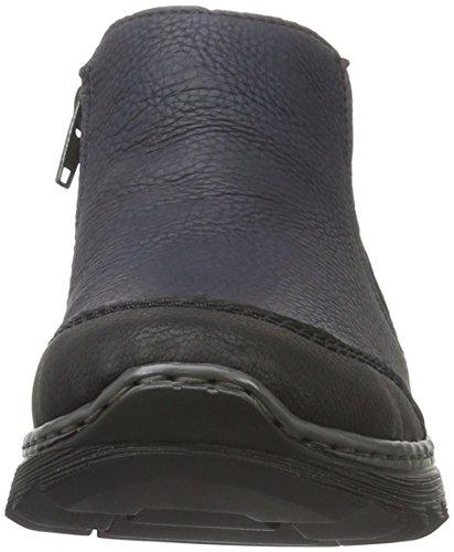 Rieker Damen M6294 Kurzschaft Stiefel Blau (schwarz/pazifik / 01)