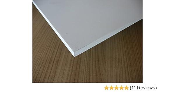 1000 x 495 x 5 mm wei/ß Zuschnitt alt-intech/® Platte aus Hart PVC