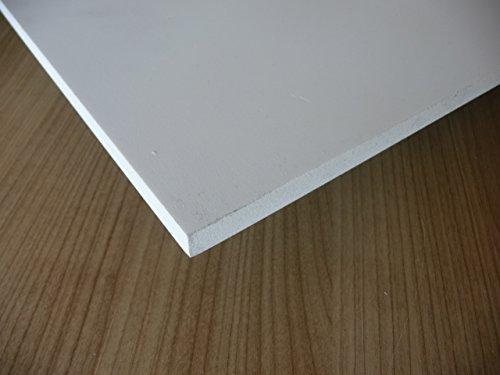 Platte aus PVC Hartschaum, 1000 x 500 x 10 mm weiß Zuschnitt alt-intech® Reststücke - Platte