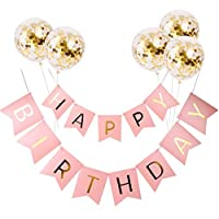 Five balloons +Happy Birthday Gilding Happy Birthday Letter Pull a Banner Banner Fish Tail Hang a Flag