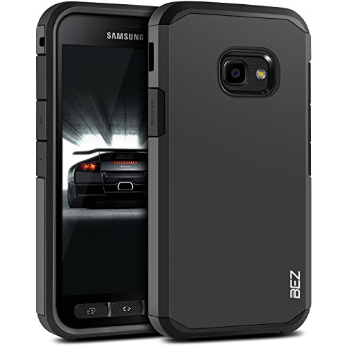 BEZ® Hülle für Xcover 4 Hülle, Handyhülle Stoßfestes Kompatibel für Samsung Galaxy Xcover 4, [Heavy Duty Serie] Outdoor Dual Layer Armor Case Handy Schutzhülle [Shockproof] Robuste - Schwarz