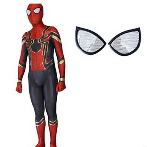 gikmhyb Eisen Spider-Man Cosplay Kostüm Anime Kleidung Spider Strumpfhosen Overall Onesies Druck Hoodie Halloween Kostüm Party Film Prop Superheld,Medium (Halloween Kostüme Basierend Auf Den Filmen)