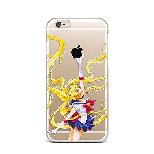DMXTPURK Afphygklu Soft Silicone TPU iPhone 5/5S/SE Hülle Case Unxuc Transparente Handyhülle Transparent Phone Case Cover (Iphone 5 Case Sailor Moon)