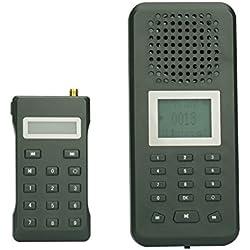 ShopinnovReclamo electrónico para pájaros con mando a distancia inalámbrico, 150cantos de pájaros integrados, altavoz de 20W