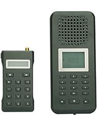 SHOPINNOV Appeau électronique pour oiseaux avec télécommande sans fil 150 chants d'oiseaux integres Haut parleur 20W