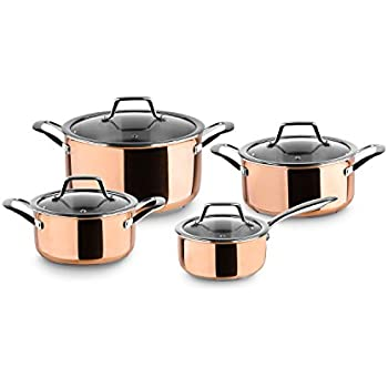 Chef Quality Copper 9 Piece Non Stick Induction Pan Set