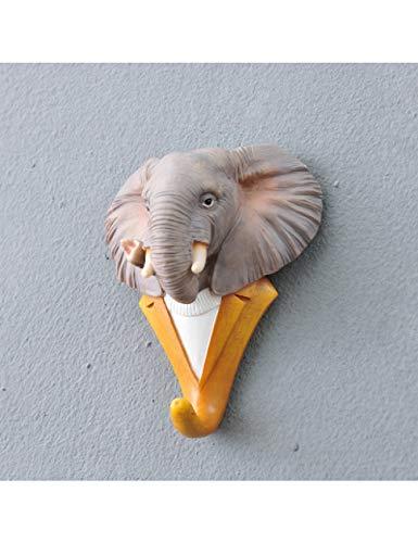 HJLBM Kreativer Haken Mode Tier Dekorative Haken Hirsch Löwe Adler Gorilla Rhino Elefant Pferd Kreative Haken Wanddekoration, Klar
